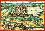 Pápa engraving after Hufnagel 1617 colorized.jpg