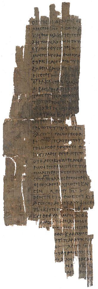 Papyrus Oxyrhynchus 654 - P. Oxy. 654