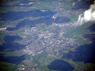 Aarwangen - Aerial view of Aarwangen