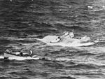 PBY-5 of VP-52 sinking off Galapagos in January 1942.jpg