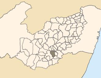 São João, Pernambuco - Location of São João within Pernambuco.