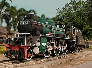 JNR Class C56 - Image: PRESERVED STEAM LOCOMOTIVE USED ON THE DEATH RAILWAY AT THE RIVER KWAI BRIDGE KANCHANBURI THAILAND JAN 2013 (8515947200)