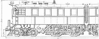 Pennsylvania Railroad class DD1 - Image: PRR DD1 side drawing
