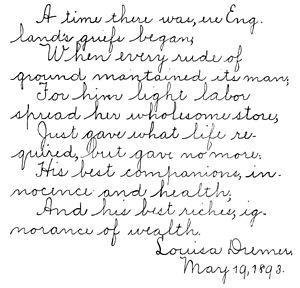 Example of vertical handwriting