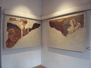 Pace di Bartolo - Annonciation, frescoes, Palazzo Vallemani, Assisi.