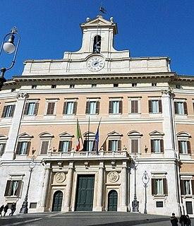 Palazzo Montecitorio palace in Rome