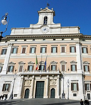 Palazzo Montecitorio - Palazzo Montecitorio, seat of the Italian Chamber of Deputies