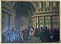 Palazzo compagni, salone, antonio cuccinelli, dino compagni in san giovanni predica la pace tra guelfi e ghibellini.JPG