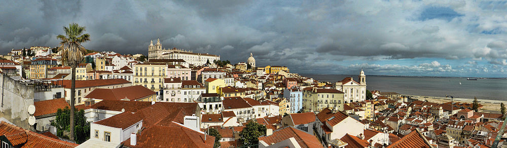 Panorama of Alfama, Lisboa from belvedere Portas do Sol