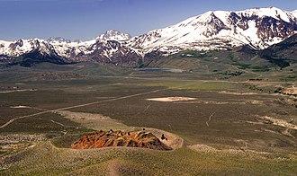 Panum Crater - Panum Crater at the foot of the Sierra Nevada