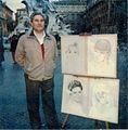 Paolo Salvati, a Roma in Piazza Navona lavora come ritrattista e miniaturista..jpg