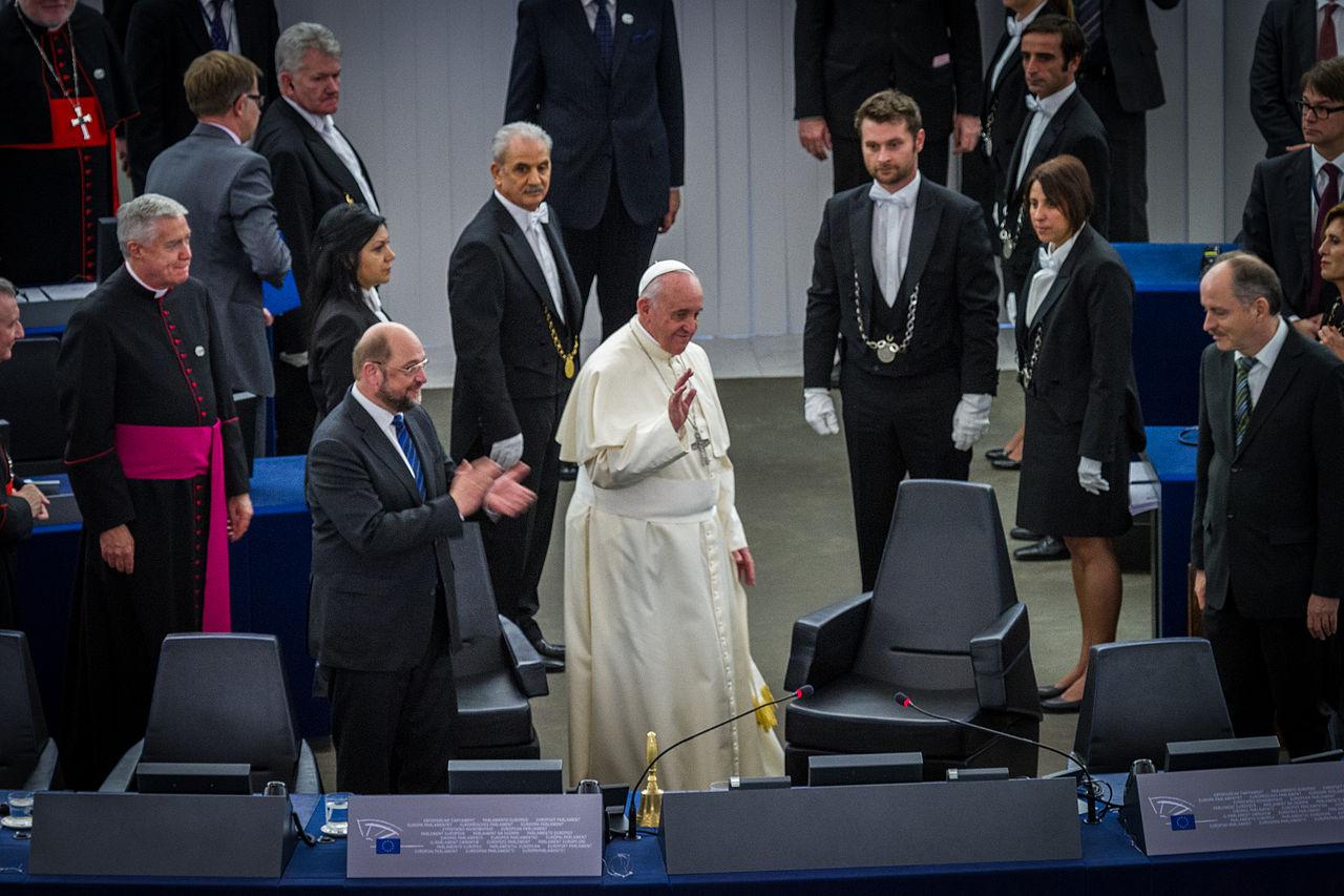 Pape François Parlement européen Strasbourg 25 nov 2014 28.jpg