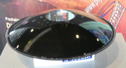 Parabolic mirror wok with optical illusion