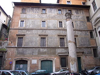Daniele da Volterra - The façade of the Palazzo di Pirro (nowadays part of the Palazzo Massimo alle Colonne) was decorated by Daniele with biblical scenes.