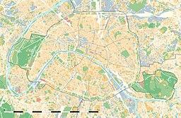 Jardin des Plantes på kartan över Paris.