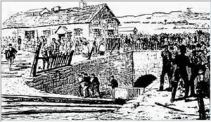 Parc Slip Colliery - Contemporary engraving of the colliery entrance in 1892