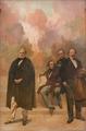 Passos Manuel, Almeida Garrett, Alexandre Herculano, e José Estevão de Magalhães (1926) - Columbano Bordalo Pinheiro (Palácio de São Bento).png