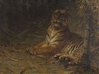 Liegender Tiger im Dschungel