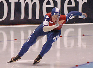 Speed skating - Paulien van Deutekom in Thialf in 2007