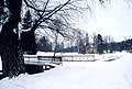 Pavlovsk Railing of bridge Yellow palace Winter.jpg