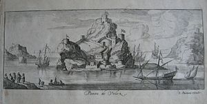 Peñón de Vélez de la Gomera -  1692 engraving of the Peñón de Vélez de la Gomera, by Lucas Vostermans of Antwerp.