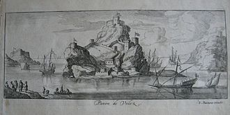 Peñón de Vélez de la Gomera - 1692 engraving of the Peñón de Vélez de la Gomera, by Lucas Vostermans of Antwerp