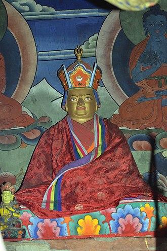 Pema Lingpa - Image of tertön Pema Lingpa in a temple in Tsakaling Gewog, Bhutan