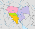 Penza city (Russia) districts (colored).png