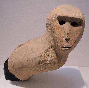 Haniwa - Image: Periodo kofun, haniwa, scimmia, VI sec