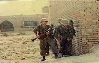 Battle of Khorramshahr - Commandos from the Iranian Navy's Takavar Battalion in Khorramshahr