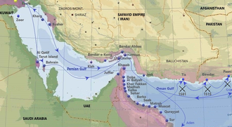 Purple - Portuguese in Persian Gulf in the 16th and 17th century. Main cities, ports and routes. Persian Gulf Pt8.png