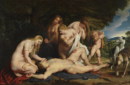 Peter Paul Rubens, The Death of Adonis, ca. 1614. The Israel Museum, Jerusalem.jpg