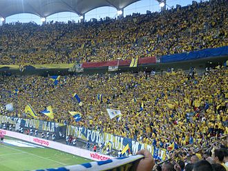 FC Petrolul Ploiești - Petrolul fans at the 2013 Romanian Cup Final in Bucharest