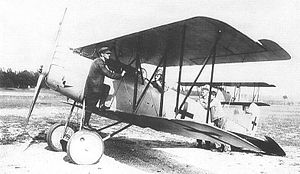 Pfalz D.XII - Test pilot Otto August in an early Pfalz D.XII