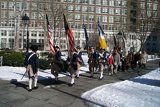 Sons of the American Revolution - Philadelphia Continental Chapter of the SAR at a ceremony commemorating the birth of General and President George Washington at the Tomb of the Unknown Revolutionary War Soldier in Washington Square, Philadelphia