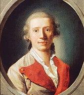 Schiller als Regimentsarzt 1781/1782, auf einem Gemälde von Philipp Friedrich von Hetsch (Quelle: Wikimedia)