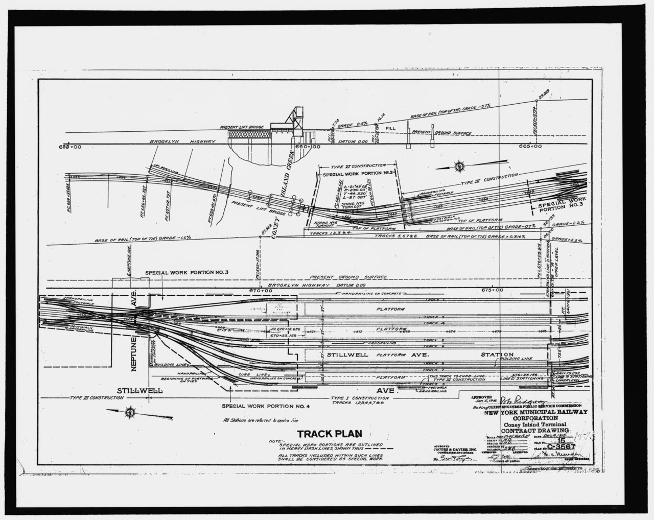 """City Line Avenue >> File:Photocopy of drawing no. C-3567, dated 8 December 1915, entitled """"New York Municipal ..."""