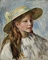 Pierre Auguste Renoir - Little Girl with a Hat (Jeune Fille au Chapeau) - 32.248 - Indianapolis Museum of Art.jpg
