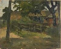 Piet Mondriaan - Farmstead in Het Gooi, viewed between trees and over fence - 0334258 - Kunstmuseum Den Haag.jpg
