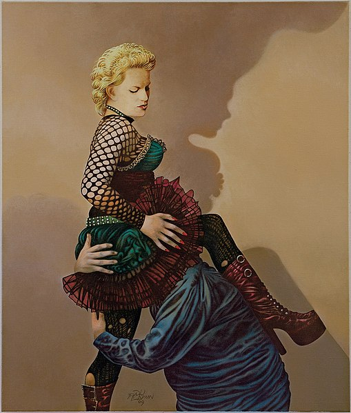 File:Pieta Cunilingus, 2009, Öl auf Leinwand, 130 x 110 cm