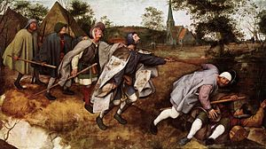 Blindness (film) - Director Fernando Meirelles alludes to Pieter Bruegel the Elder's 1568 painting The Parable of the Blind in the film Blindness.