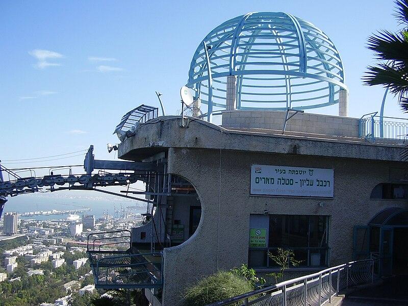 הרכבל בחיפה-התחנה העליונה