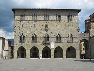 building in Pistoia, Italy