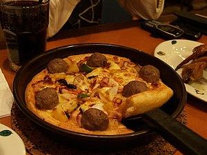 Une pizza Pan de Pizza Hut