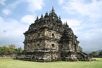 Plaosan - One of the twin main temple of Plaosan Lor compound.