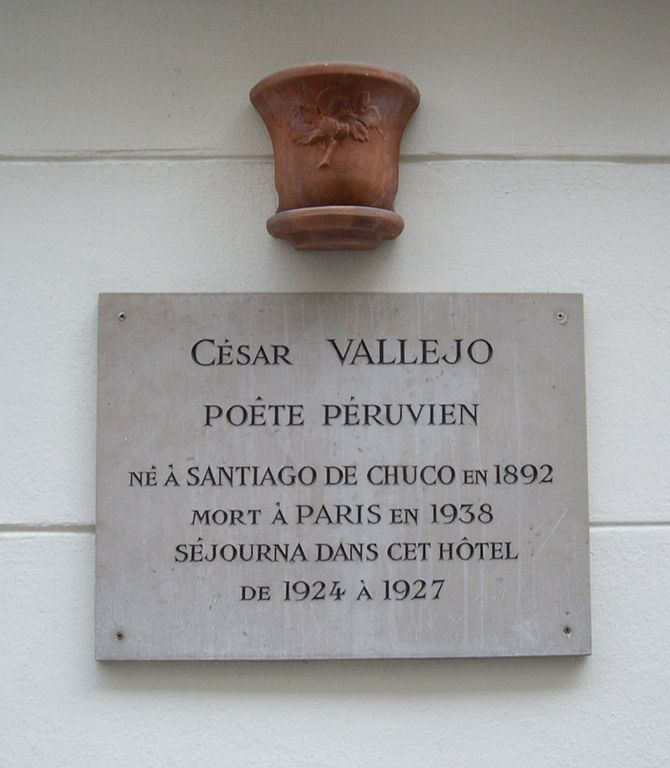 File:Plaque César Vallejo, 20 rue Molière, Paris 1.jpg - Wikimedia ...