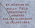 Plaque hommage à Nelly Feld à Miribel (Ain).jpg