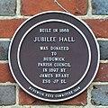 Plaque on Rudgwick village hall - geograph.org.uk - 248879.jpg