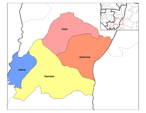 Plateaux Department (Republic of the Congo) - Districts of Plateaux