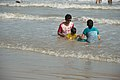 Playful Family with Sea Waves - New Digha Beach - East Midnapore 2015-05-01 8747.JPG